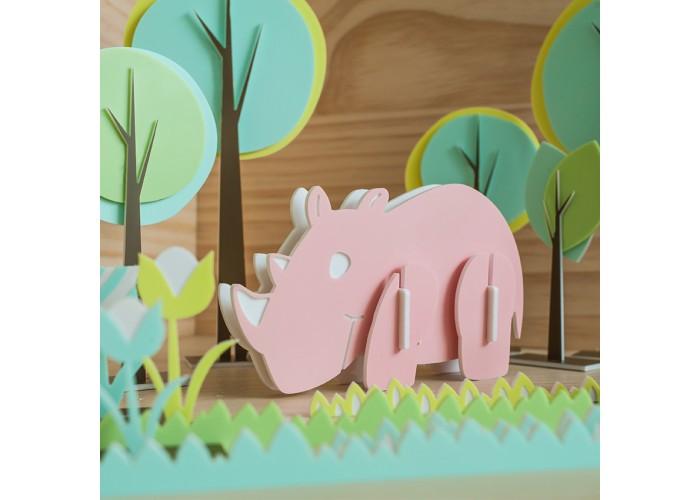 犀牛 - 立體拼圖