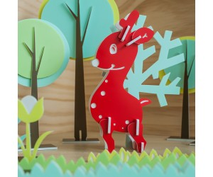 聖誕小鹿 - 立體拼圖