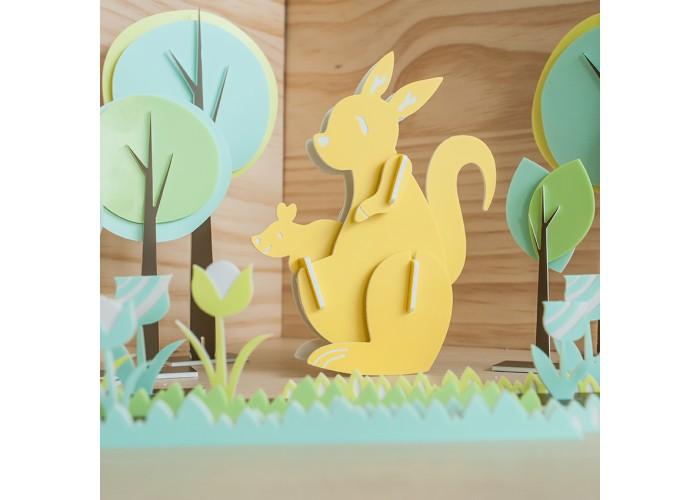 親子袋鼠 - 立體拼圖