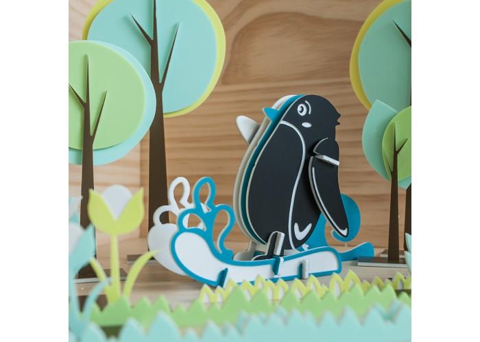 滑水企鵝 - 立體拼圖