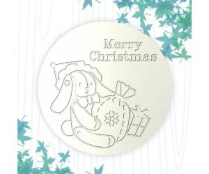 聖誕杯墊-聖誕布偶