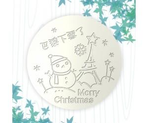 聖誕杯墊-巴黎下雪了