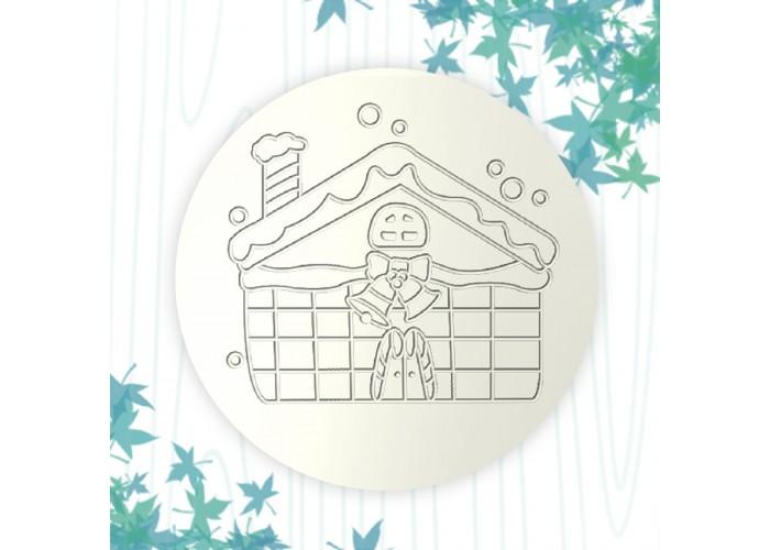 聖誕杯墊-糖果屋