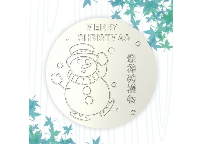 聖誕杯墊-雪人先生
