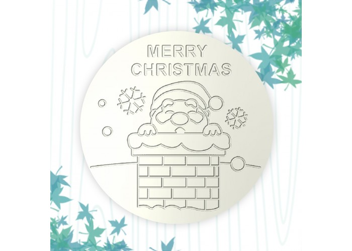 聖誕杯墊-煙囪