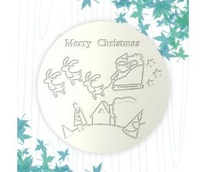 聖誕杯墊-老人出巡