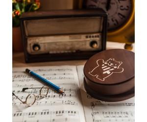 其他圖案音樂盒-灰熊古錐