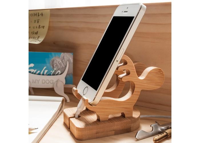 聖誕麋鹿-充電手機座