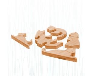 玩耍貓咪-竹子